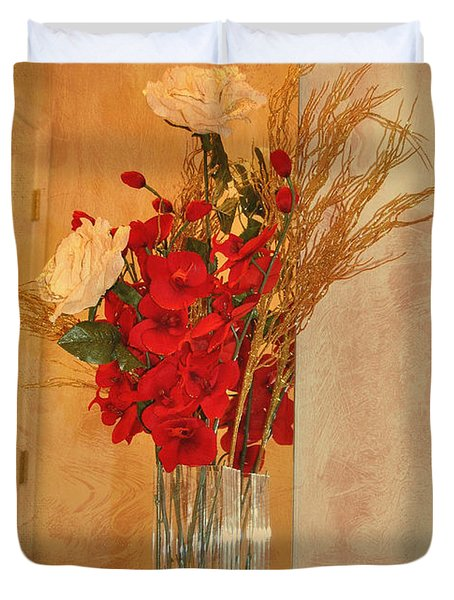 Duvet Cover featuring the photograph A Rose By Any Other Name by Kathy Baccari