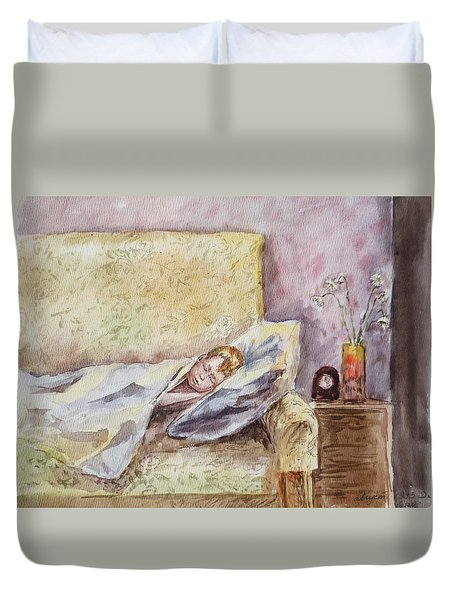 A Sleeping Toddler Duvet Cover by Irina Sztukowski