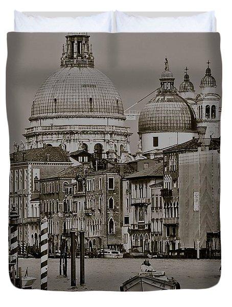A Slice Of Venice Duvet Cover by Eric Tressler