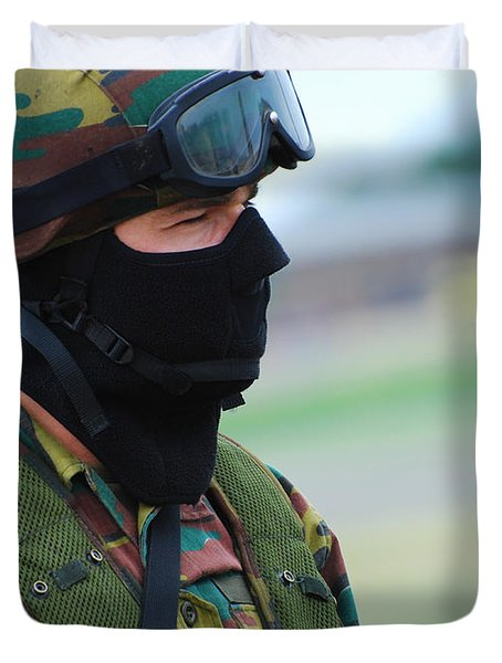 A Soldier Of The Special Forces Group Duvet Cover by Luc De Jaeger