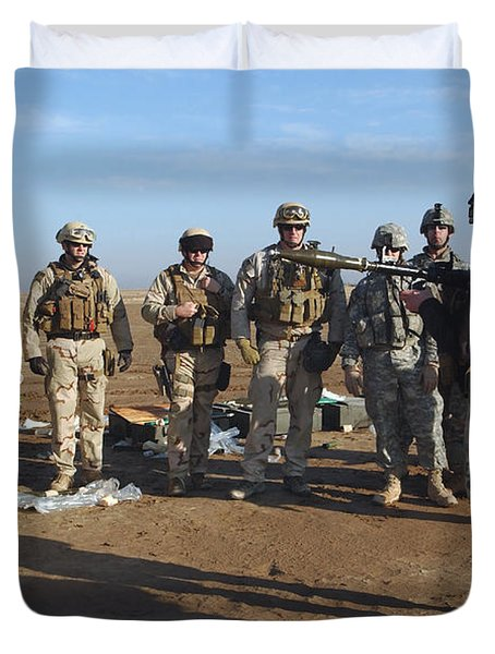 A Soldier Teaches How To Properly Duvet Cover by Stocktrek Images