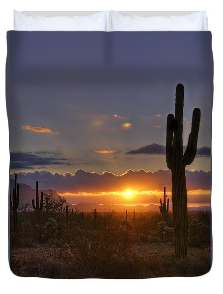 A Spectacular Sunrise  Duvet Cover by Saija  Lehtonen