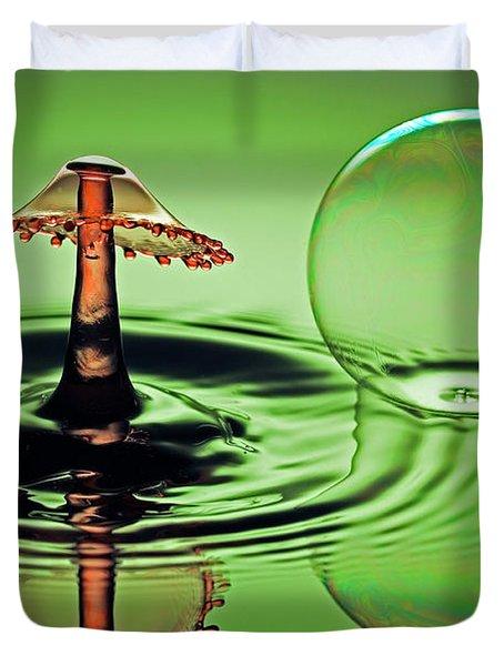 A Splash And A Bubble Duvet Cover