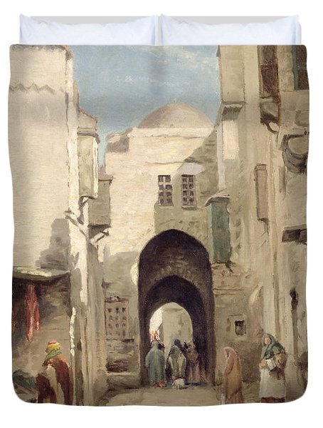 A Street In Jerusalem Duvet Cover