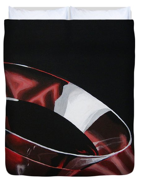 A Taste Of Crimson Duvet Cover by Kayleigh Semeniuk