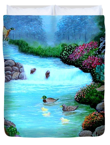 Duvet Cover featuring the painting A Taste Of Heaven by Fram Cama