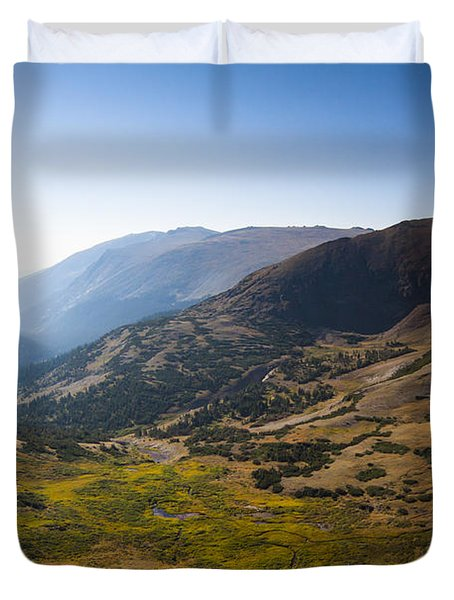 A Tundra Valley In The Colorado Rockies Duvet Cover by Ellie Teramoto