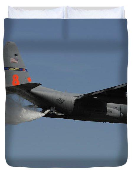 A U.s. Air Force C-130 Hercules Duvet Cover by Stocktrek Images