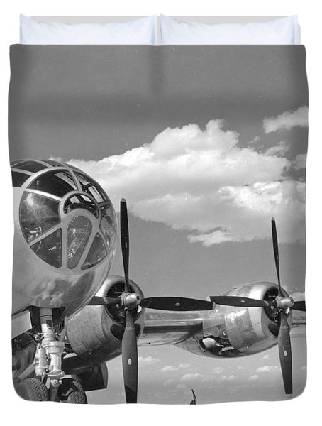 A U.s. Army Air Forces B-29 Duvet Cover by Stocktrek Images
