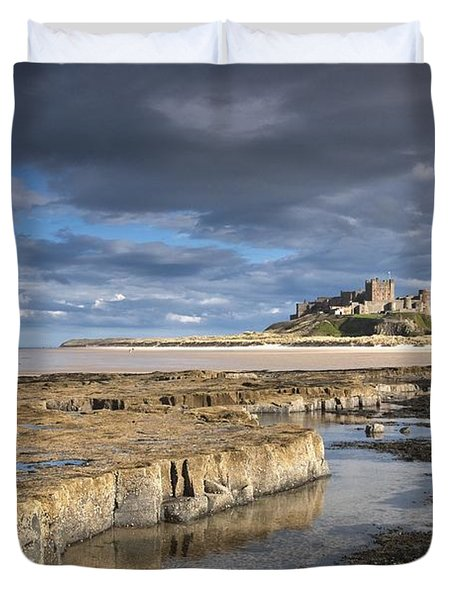 A View Of Bamburgh Castle Bamburgh Duvet Cover by John Short