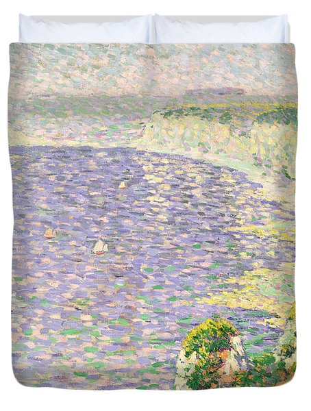 A View Of The Cliffs Of Etretat Duvet Cover