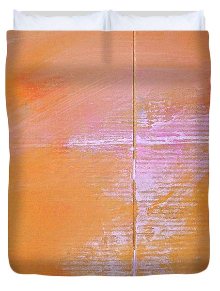 Duvet Cover featuring the painting A View Of The Line by Charles Stuart