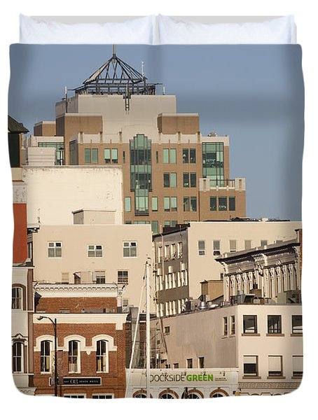 A View Of The Skyline Of Victoria Duvet Cover by Taylor S. Kennedy