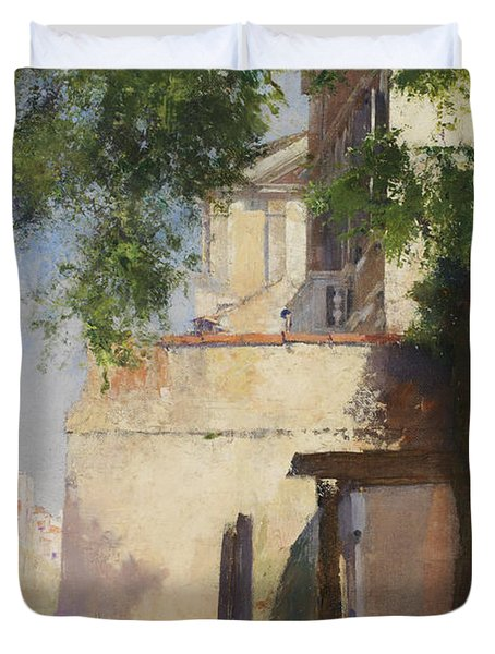 A View Of Venice From A Terrace Duvet Cover