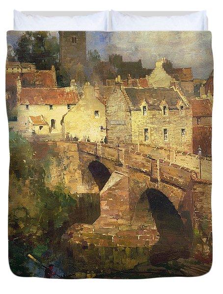 A Village In East Linton Haddington Duvet Cover by James Paterson