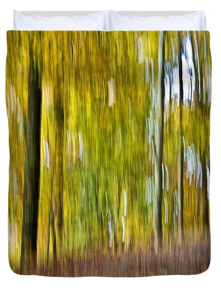 A Walk In The Woods Duvet Cover by Susan Leggett