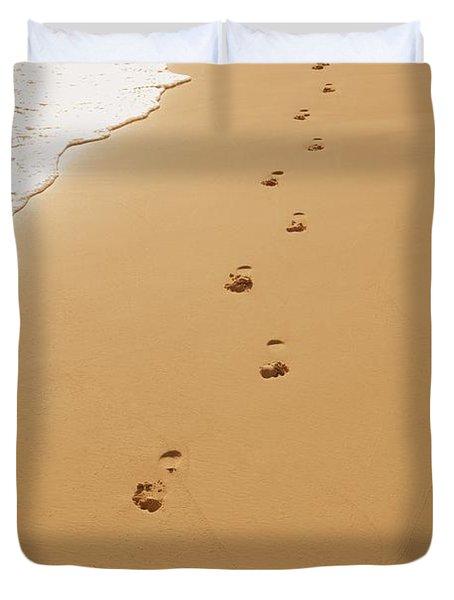 A Walk On The Beach Duvet Cover by Don Hammond
