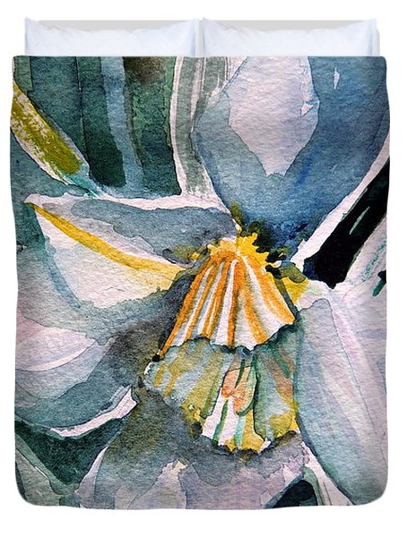 A Weepy Daffodil Duvet Cover by Mindy Newman