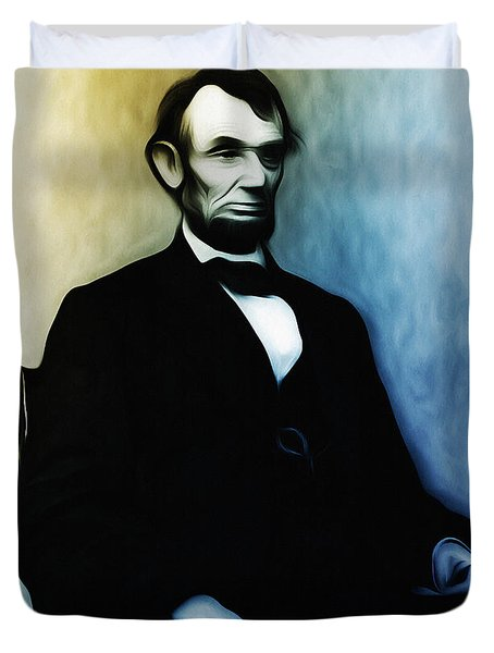 Abe Lincoln Seated Duvet Cover by Bill Cannon