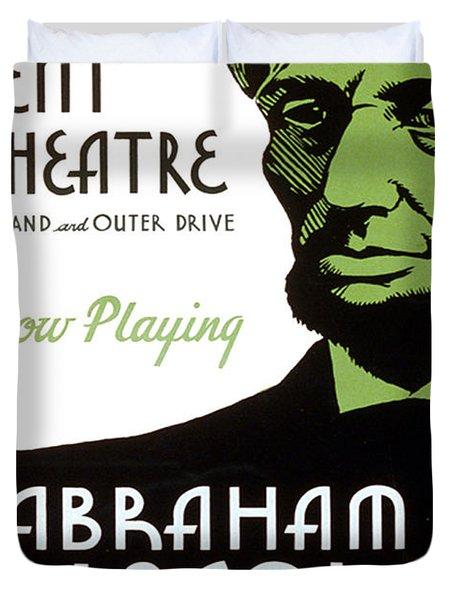 Abe Lincoln Wpa Poster Duvet Cover by Paul Van Scott