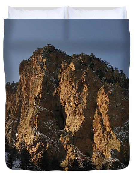 Duvet Cover featuring the photograph Above Red River I by Ron Cline