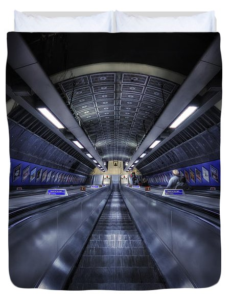 Above The Below Duvet Cover by Evelina Kremsdorf
