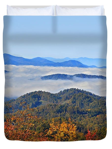 Above The Clouds Duvet Cover by Susan Leggett