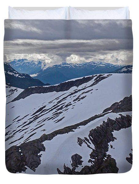 Above The Ridge Duvet Cover by Mike Reid