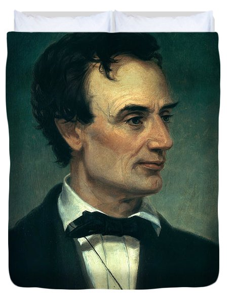 Abraham Lincoln, 16th American President Duvet Cover by Photo Researchers, Inc.