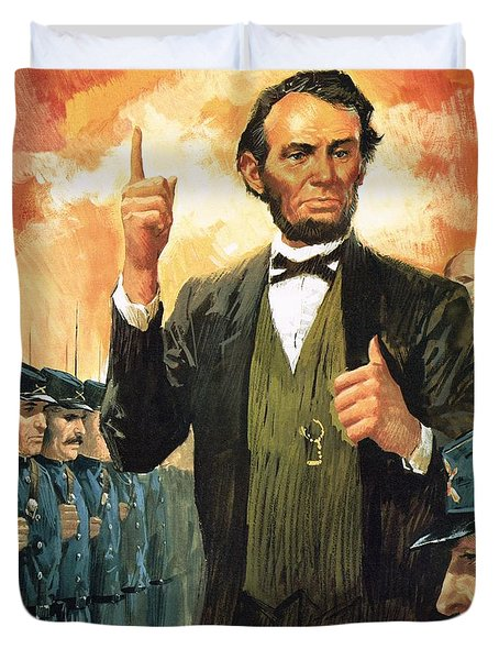 Abraham Lincoln Duvet Cover by English School