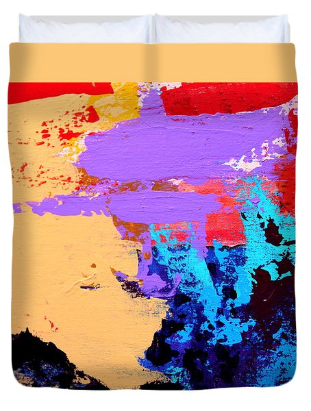 Duvet Cover featuring the painting Abstract 1 by M Diane Bonaparte