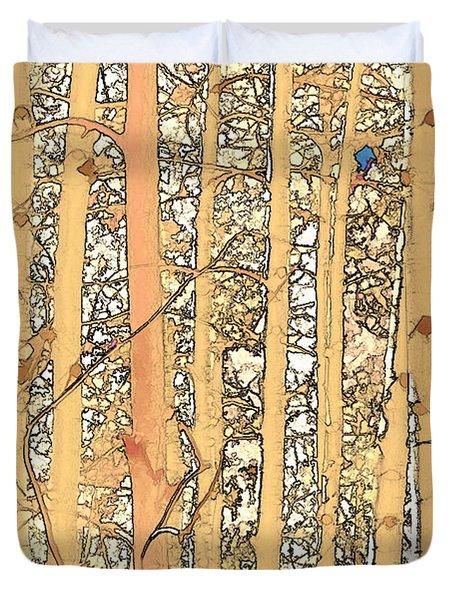 Abstract Aspens Duvet Cover