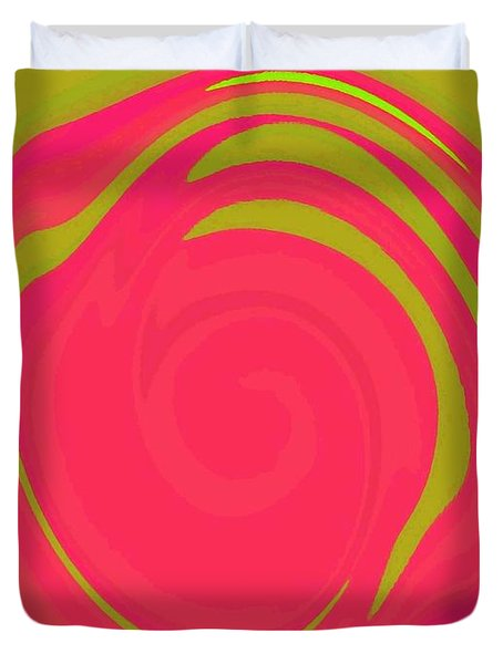 Abstract Color Merge Duvet Cover