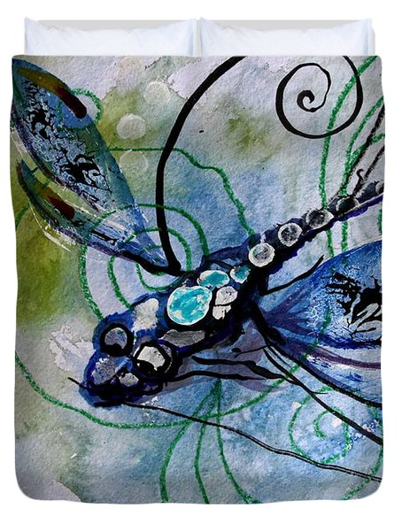 Abstract Dragonfly 10 Duvet Cover by J Vincent Scarpace