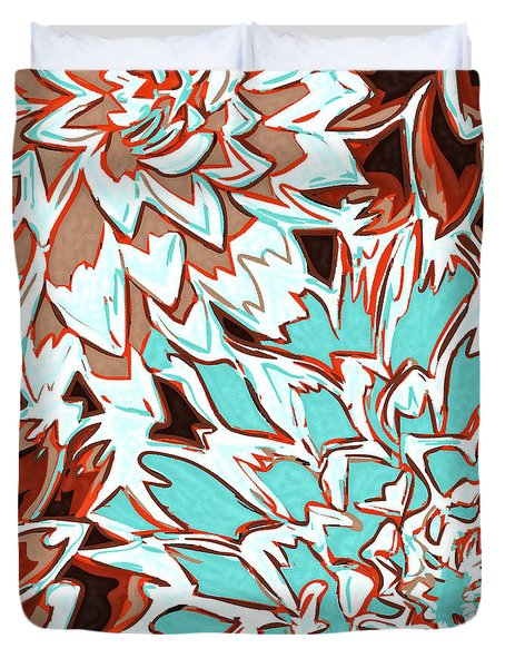 Abstract Flower 17 Duvet Cover by Sumit Mehndiratta