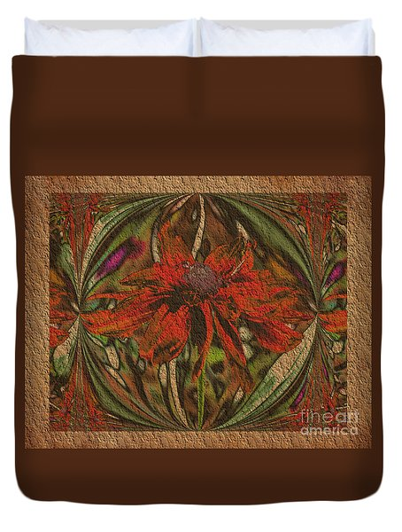 Abstract Flower Duvet Cover by Smilin Eyes  Treasures