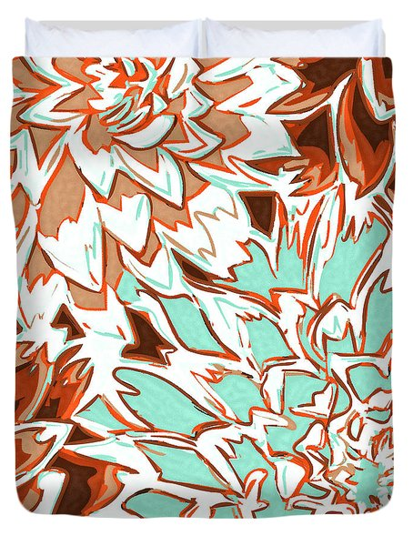 Abstract Flowers 12 Duvet Cover by Sumit Mehndiratta