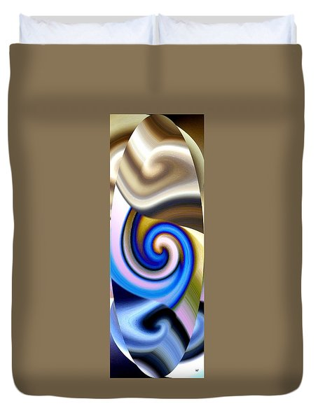 Abstract Fusion 114 Duvet Cover by Will Borden