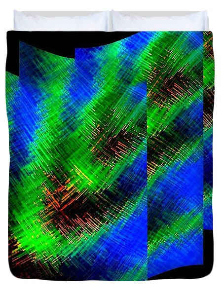 Abstract Fusion 130 Duvet Cover by Will Borden