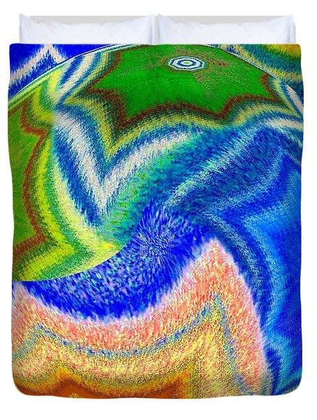 Abstract Fusion 155 Duvet Cover by Will Borden