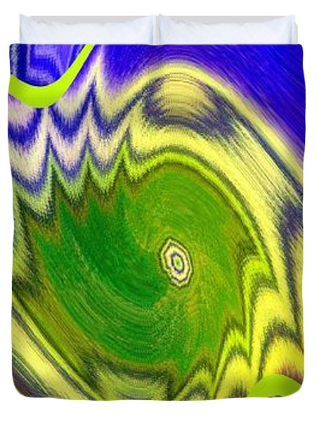 Abstract Fusion 157 Duvet Cover by Will Borden