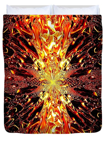 Abstract Fusion 73 Duvet Cover by Will Borden