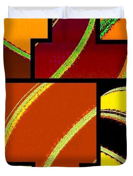 Abstract Fusion 92 Duvet Cover by Will Borden