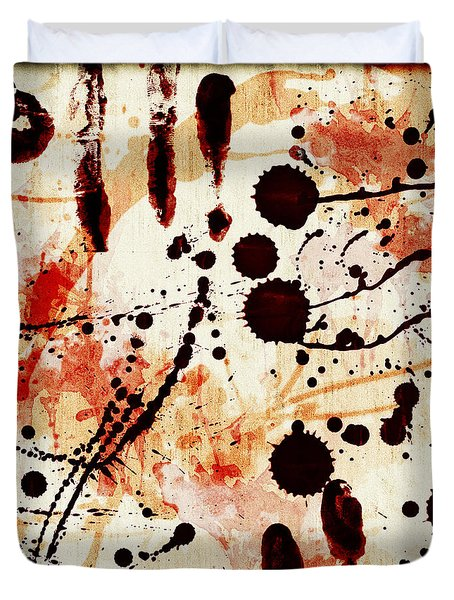 Abstract Grunge Background Duvet Cover by Susan Leggett