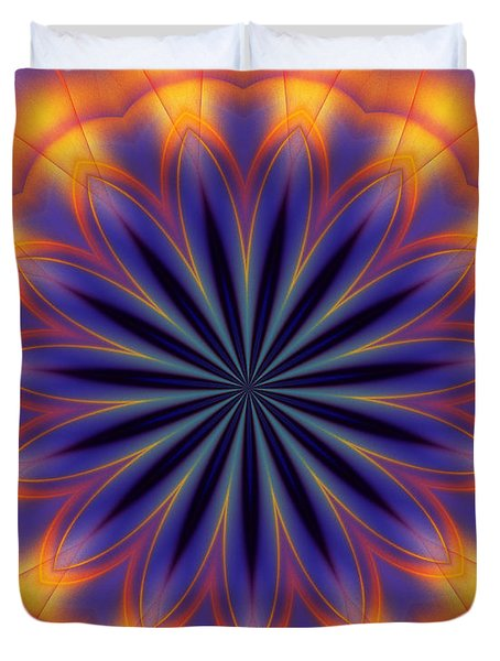 Abstract Kaleidoscope Duvet Cover by David Lane