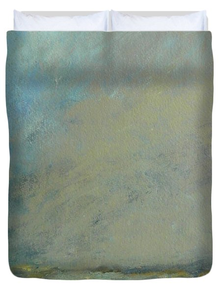 Abstract Landscape - Horizon Duvet Cover by Kathleen Grace