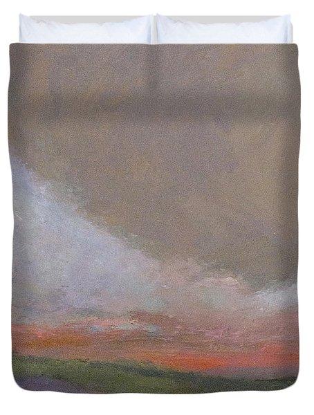 Abstract Landscape - Scarlet Light Duvet Cover