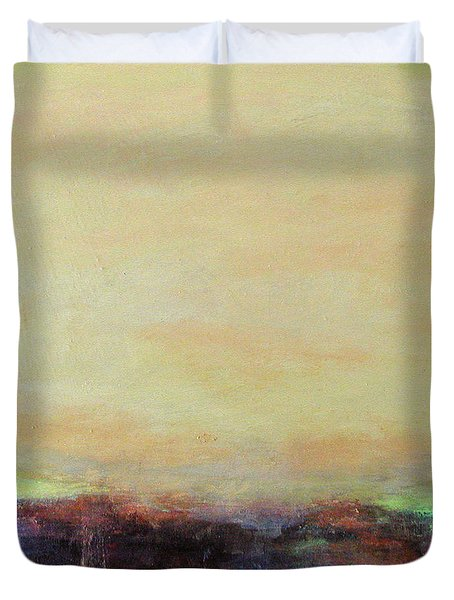 Abstract Landscape - Rose Hills Duvet Cover by Kathleen Grace