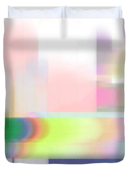 Abstract Landscape Duvet Cover by Sonali Gangane