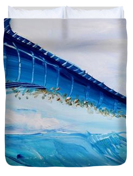 Abstract Marlin Duvet Cover by J Vincent Scarpace